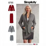 9220239d58d877 8795 Simplicity Pattern  Misses  Skirt and Jacket .